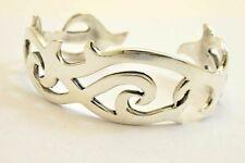 Wide 925 Sterling Silver Cuff Bangle Bracelet. 30 grams