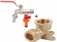 1/2 inch BSP Water Taps with Brass Wall Plate Fixture BS1010-2