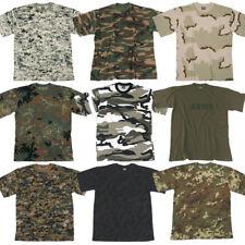 ARMY MENS CAMO TEE MILITARY COMBAT TACTICAL PATROL T-SHIRT COTTON TOP S-3XL