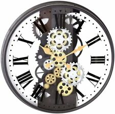 Wall Clock - Moving Gear Clock - 53cm x 53cm