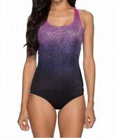Speedo Pink Purple Women's Size 6 One-Piece Abstract Ombre Swimwear $88 #154