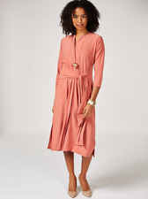 bb78595f02aea3 MarlaWynne Matte Jersey Front Tie Dress Rose M
