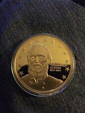 THOMAS STONEWALL JACKSON Southern Leader Of Civil War Gold Coin