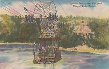 Spanish Aerocar over Whirlpool at Niagara Falls Ontario Canada - Linen Postcard