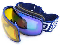 Dirty Dog Mutant 0.5 Ski Goggles Small Fit Magnetic Lens Change Navy Blue 54192