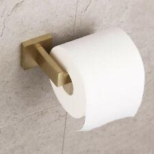Bathroom Toilet Paper Holder Stainless Steel Tissue Roll Hanger Brushed Gold