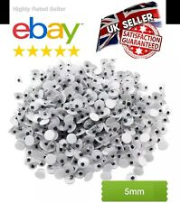 5mm x 500 peel off sticker's  WIGGLY WIGGLE EYES GOOGLE EYES GOOGLY  CRAFT NEW