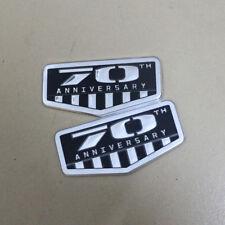 2x 70TH ANNIVERSARY Metal Emblem Sticker Badge Driven Limited 3D 4x4 srt Sports