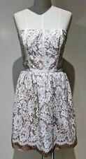 Forever New Lilia Lace Dress Sz 14 Rose Dusk Strapless Adj Straps Formal BNWT