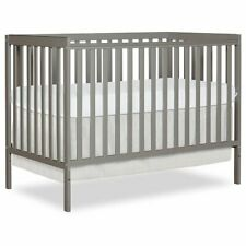 Dream On Me Synergy 5-in-1 Convertible Crib in Cool Grey