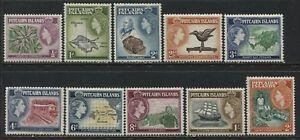 Pitcairn Islands QEII 1st set to the 2/ value mint o.g.