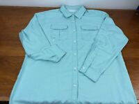 Cabelas Long Sleeve Mens Teal Button Fishing Shirt 4Most UPF30 Vented Size 2XL