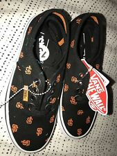 New Kids Size 13 San Francisco Giants Baseball Vans Off The Wall Shoes No Box