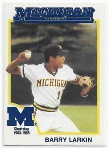 BARRY LARKIN 1991 Greats card Michigan Wolverines Baseball Cincinnati Reds NR MT