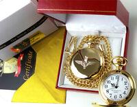 PARAS Parachute Regiment Gold Pocket Watch Paratrooper British Army Gift Box