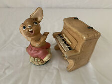 Pendelfin Vintage The Thumper And Piano England Stoneware