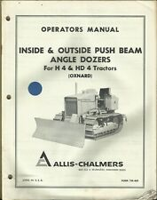Allis Chalmers Angle Dozers Inside Outside Push Beam H4 Hd4 Tractors Manual