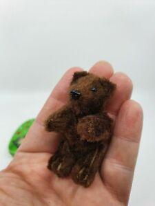 cute rare Schuco Heike Teddy Bear brown 6,5 cm mohair vintage