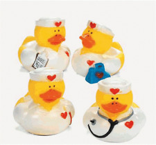 Nurse Rubber Duck Set of 4   **Free S/H when you buy 6 items from my store:-)