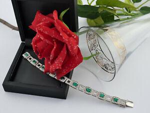Armband bracelet 750 Gold Kolumbianische Smaragde 5 ct Brillanten 4 ct mit WBW