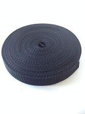 10mm Black nylon webbing Tape x 10