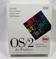 "IBM OS/2 For Windows 3.1 Version 2.1 3.5"" Disk New Sealed 1993"