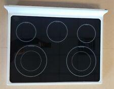 W10636009 Whirlpool White Frame Black Glass Top For Stove Oven Range