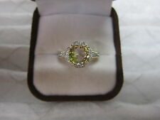 GORGEOUS ESTATE 14 KT GOLD 2.19 CTW. YELLOW /PINK TOURMALINE & DIAMOND RING !!!
