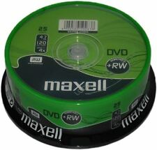Maxell 25 Spindle of 1x-4x Speed 120 Minute Rewritable DVD RW Discs 4.7gb 275894