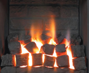 High Thermal Resistant Large SQUARE Ceramic Coals 4 Gas Fire Coal Replacement