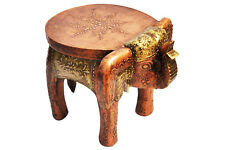 Wooden 8 inch Elephant Stool Handicraft Gift Side Table EthnicTable Decor