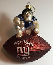 New New York Giants Blown Glass Mascot Ornament, Christmas Gift for Her Him