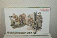 MAQUETTE 50 PIECES SOLDAT SOVIET TROOP BERLIN 45 DRAGON WWII NEUF 1/35 MODEL KIT