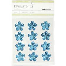 "**BRAND NEW** Kaiser Craft Blue Flower Rhinestones"" 12 per Pack SB741"