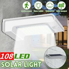 Outdoor 72 LED Solar Power Wall Light PIR Motion Sensor Security Garden Lamp