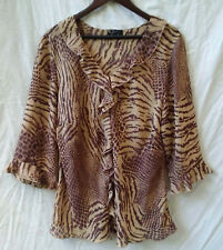 Free Woman Size 16-18-20 Top Blouse 3/4 Sleeve Work Evening Casual FREE POSTAGE