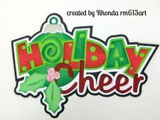 Christmas Cheer boy girl paper piecing title premade scrapbook Rhonda rm613art