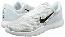 NIKE Women's Flex 7 Cross Trainer, White/Metallic Silver-Pure Platinum 9 (B/M)