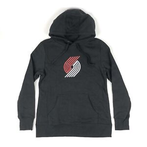 Portland Trail Blazers NBA Fanatics Women Small Black Pullover Hoodie Sweatshirt