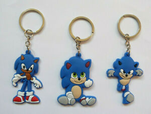 SONIC THE HEDGEHOG KEY RING Keychain Childrens Kids Party bag filler NEW