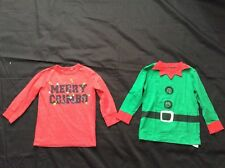 Boys Christmas - Next - Long Sleeved Top 2-3 years Merry Christmas Elf