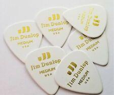 Jim Dunlop 483P01MD Celluloid Standard Medium White Guitar Pick, 6 Pk