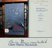 Phantom Pirates HAND SIGNED by Poet Claire Harris MacIntosh! Poetry! 1941!