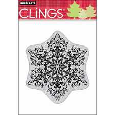 NEW HERO ARTS DOTTED SNOWFLAKE CLING RUBBER STAMP
