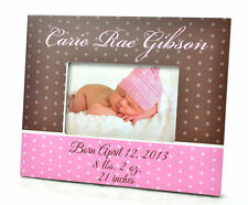 Personalized Picture Frame for 4x6 Photo Baby Girl Baby Boy Custom Frame Gift