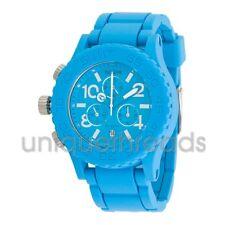 NIXON Sky Blue RUBBER 42-20 CHRONO Wristwatch WATCH New In Box
