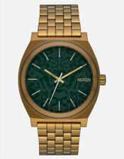 New Nixon Watch The Time Teller Palm Green/Brass Unisex A045-2851