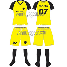 12 CUSTOM MADE SOCCER UNIFORM SETS SUBLIMATED WITH NAME NUMBER ADULT SIZES YOUTH