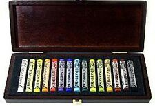 Rembrandt Artists Soft Pastels - Full Size Pastels - 15 Colours - Wooden Box Set
