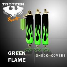 Yamaha raptor 660 Green Flame Black Shock Cover #mgh5039sc5039